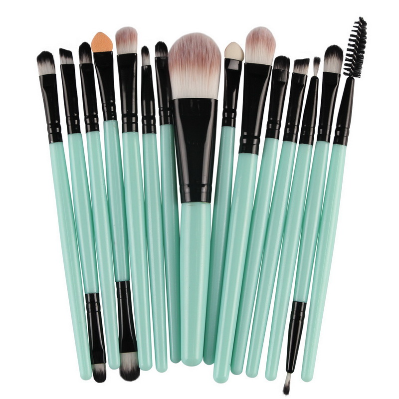 New High Quality 15 Pcs Makeup Brushes Foundation Eyeshadow Eyeliner Lip Gloss Lipstick Eyelashes Cosmetic Beauty Sets & Kits sleek makeup губная помада lip v i p lipstick 3 6 гр 9 оттенков губная помада lip v i p lipstick 3 6 гр attitude тон 1012 3 6 гр