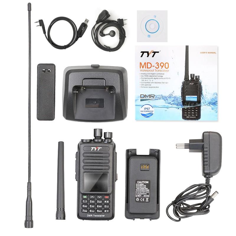 uhf 400 480mhz 2200mah 1000ch dmr digital 2 way radio md390 com cabo pro 05