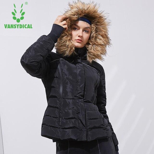 Vansydical deportes de invierno abrigo de algodón de manga larga de las  mujeres cálido a prueba 117bb78710ce8