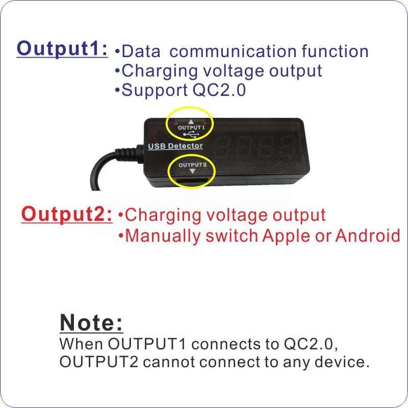 YB26 USB كاشف أدى العرض الجهد القدرة الحالية اختبار أحمر اللون الأزرق الفولتميتر مقياس التيار الكهربائي USB اختبار الجهد الحالي متر