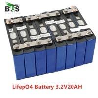8 adet lifepo4 3.2 v 20ah 200A yüksek deşarj akımı 20ah 3.2 v lifepo4 pil hücresi için elektrikli bisiklet motor pil paketi diy