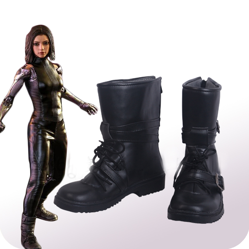 Alita Battle Angel Alita Cosplay Shoes Boots Halloween Carnival Cosplay Costume Accessories
