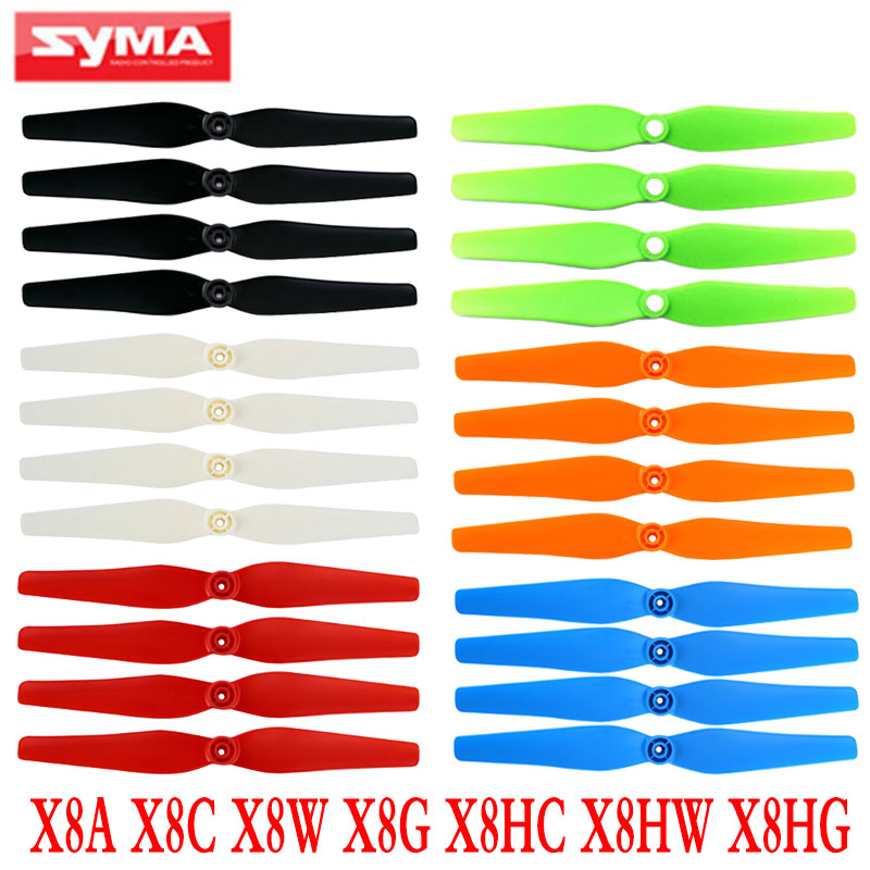 Syma X8 X8C X8W X8G Drone Propeller Spare Parts RC Quadcopter Main Blade Props For X8HC X8HG X8HW Helicopter Accessories Fan propeller protective guard landing skid for x8c x8w x8g x8hg white