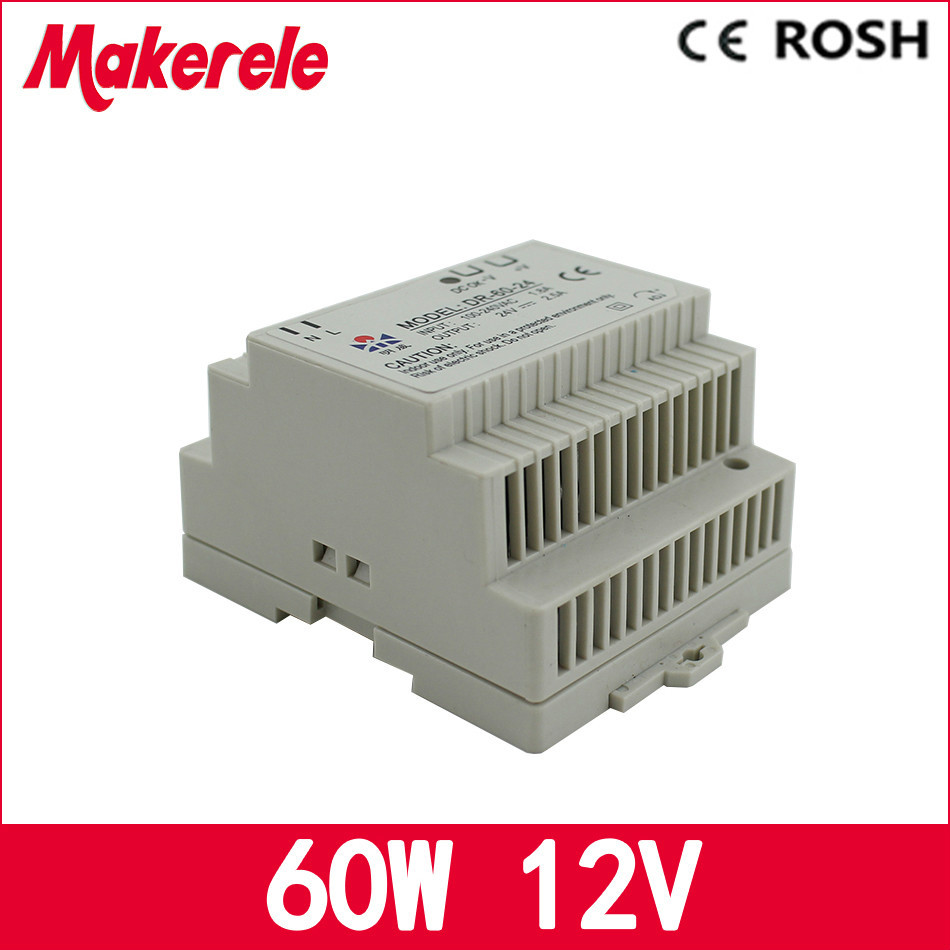 Cheap Price 60w 5a Professional Dr-60-12 12v Din Rail Power Supply for led driver ac dc power supply