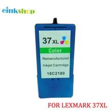 купить 1pcs  for Lexmark 37 37Xl Color Ink Cartridges for Lexmark X4650 X5650 X5650es X6650 X3650  X6675 Z2420 printer дешево