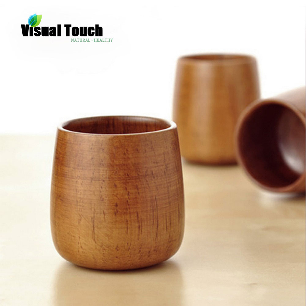 Natural Wood Eco-friendly Healthy Tea Cup Heatproof Drink Mug Wooden Coffee Beer Mugs Tumbler Tea Milk Cups декоративні лампи із дерева у стилі бра