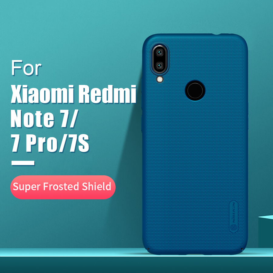 Redmi note 7 case 6.3 NILLKIN Frosted PC Matte hard back cover Gift Phone Holder For xiaomi redmi note 7 pro case Redmi note 7s|  - title=