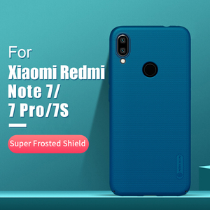 Image 1 - Redmi note 7 case 6.3 NILLKIN Frosted PC Matte hard back cover Gift Phone Holder For xiaomi redmi note 7 pro case Redmi note 7s