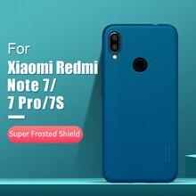 Redmi note 7 durumda 6.3 NILLKIN buzlu PC mat sert arka kapak hediye telefon tutucu xiaomi Redmi note 7 pro vaka redmi note 7s