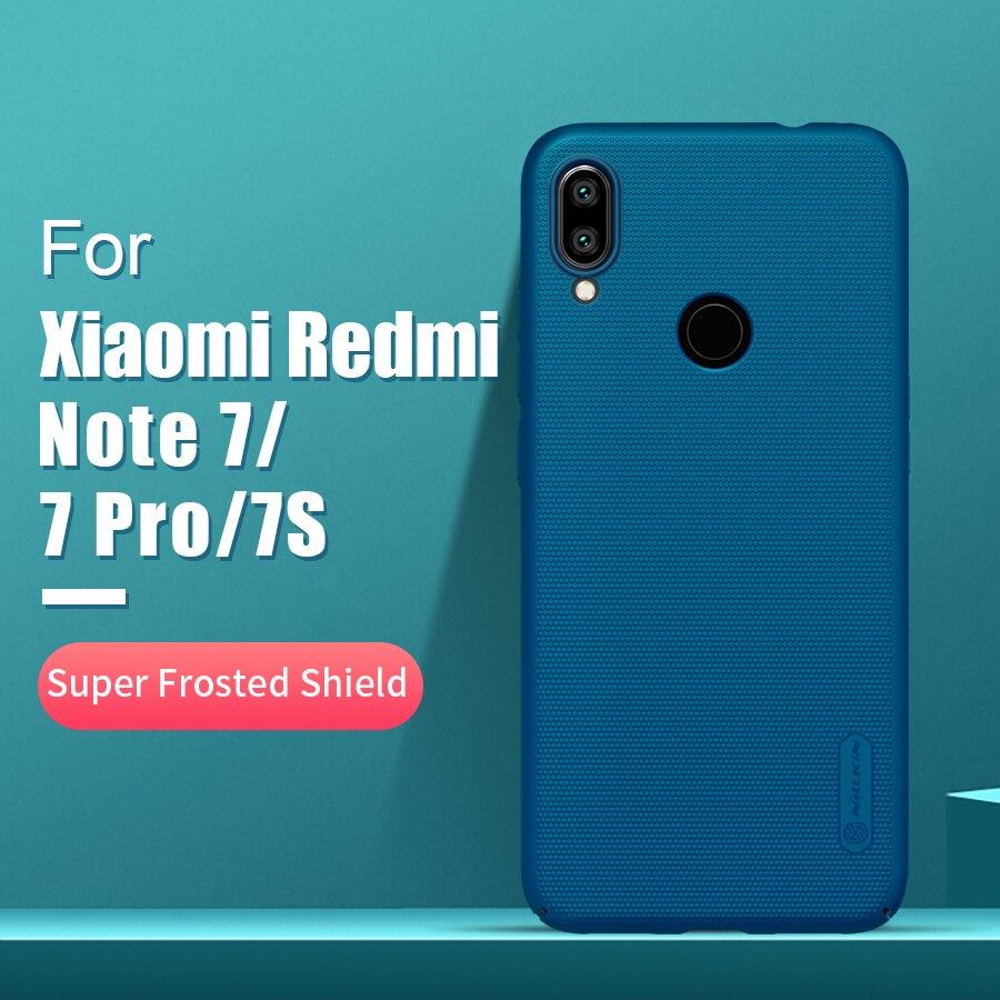 Redmi note 7 funda 6,3 NILLKIN Frosted PC mate funda trasera dura regalo soporte para xiaomi redmi note 7 pro funda redmi note s 7s