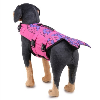 Pet Dog Life Jacket Safety Clothes Life Vest Collar Harness Saver Pet Swimwear Dog Swimming Preserver Clothes Dog Supplies 4