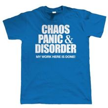 Chaos Panique & Disorder Drole T-Shirt pour Hommes, Fete des Peres Funny Tops Tee New Unisex Unique free shipping