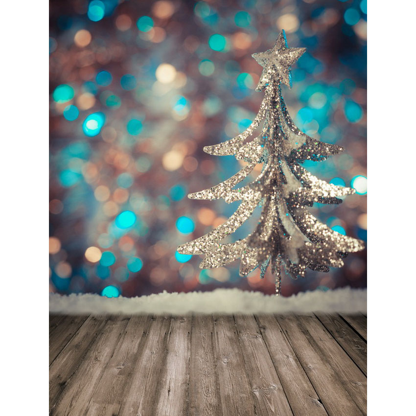 Vinyl Photography Background Glitter Lights Christmas Trees Wooden Floor Baby Children Backdrops for Photo Studio S-2468 vinyl photo background for baby studio props wooden floor christmas photography backdrops 5x7ft or 3x5ft jiesdx005