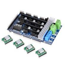 Ramps 1,6 1,5 обновление базы на пандусы 1,4 3D панель управления Поддержка A4988 Drv8825 TMC2130 Reprap Мендель для 3D принтер Часть