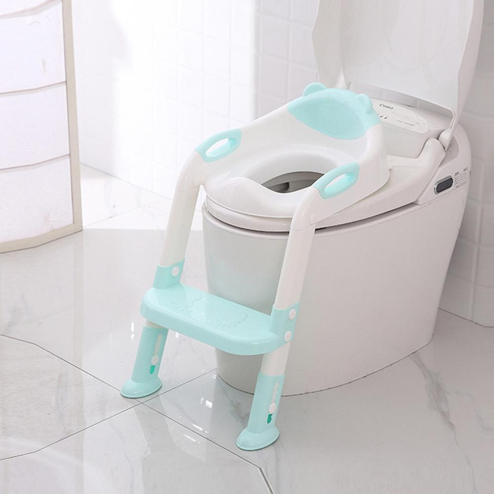 Children Portable Toilet Ring Baby Outdoor Travel Potty Folding Chair Cute Cartoon Baby Toilet Seat Convenient   U11@Z