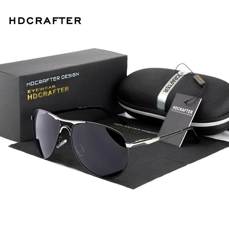 fd8e1b0644 HDCRAFTER Brand Designer Sunglasses For Man Cool Polarized Sun Glasses Men  Eyewear UV Protection Oculos De Sol Masculino