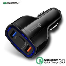 Car Charger QC 3.0 Quick Charge USB Type C Mobile Phone 2 Port Smart Universal Adapter for Samsung Xiaomi iphone
