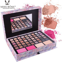 MISS ROSE Pink Handmade Cosmetic Set Box makeup eyeshadow palette nude eyeshadow palette Natural Long lasting