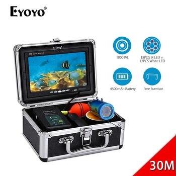 EYOYO EF07 7 30M 1000TVL魚群探知機24pcs LED LED制御付き水中釣りカメラビデオ録画カメラICE Fishing EYOYO