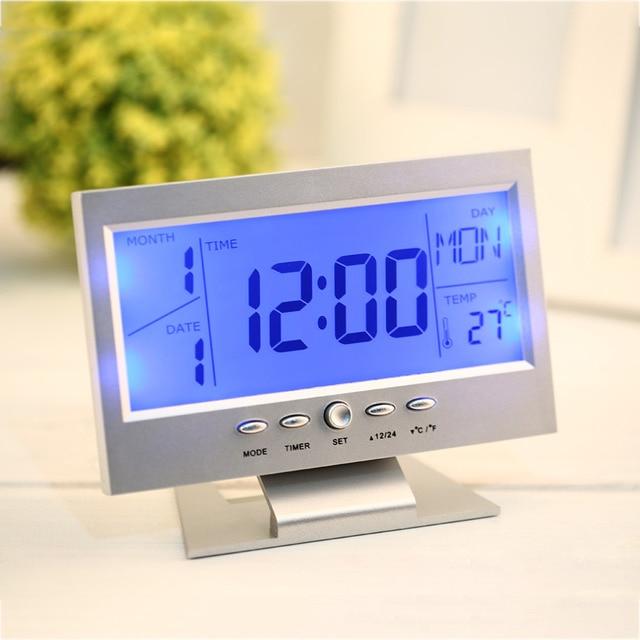 Aliexpress.com : Buy 2 Colors Electronic LCD Alarm Desk Clock ...