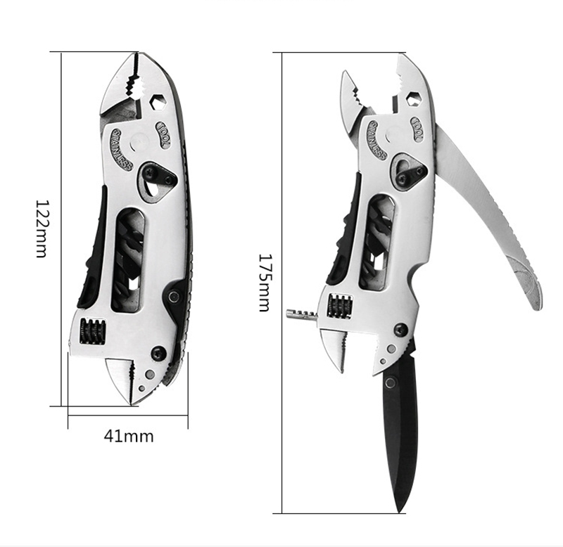 Pocket Multi tool Pliers Screwdriver Set Mini Adjustable Wrench Multi function Pliers Hiking Camping Tools in Pliers from Tools