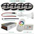 DC12V Tira CONDUZIDA Luz RGBW ip65 À Prova D' Água 5050 Fita Flexível + 2.4G RF Controle Remoto + Power adapter Kit 20 M 15 M 10 M 5 M