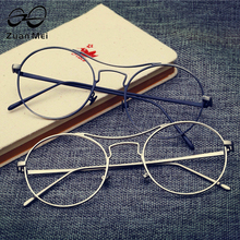 Zuan Mei 2017 High Quality Metal Super Fine Glasses Frames Unisex Vintage Spectacle Alloy Frame For Female Grade Glasses Gafas