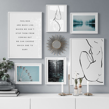 Abstract Sexy Woman Forest Line body Art Wall Canvas Painting Nordic Posters And Prints Pictures For Living Room Decor