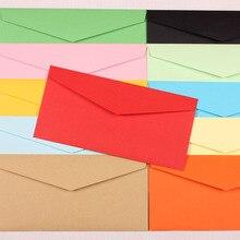 100 шт./лот цвет конверт уплотнения Цвет конверта треугольное сечение Конверт Стиль 120 г крафт-бумаги 105*220 мм смешанные цвет