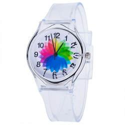 2019 прозрачные часы Силиконовые часы для женщин Спорт повседневное кварцевые наручные Новинка хрустальные женские часы мультфильм Reloj Mujer