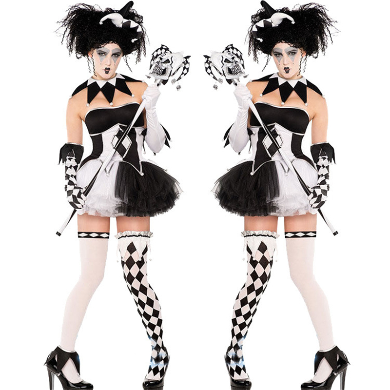 Cosplay Ms. Dress Circus Stage Costume Vampire Halloween New Sexy Playful Clown Girl Uniform Skirt