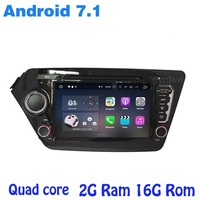 Android 7.1 Quad core Car dvd gps player for kia K2 rio with rds wifi 4G usb bluetooth mirror link auto Stereo