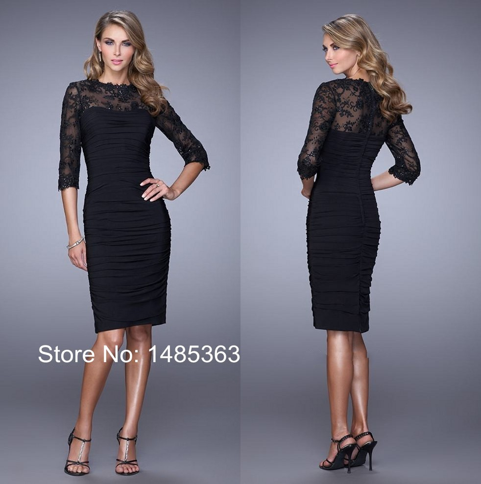 Black Knee Length Dresses for Wedding – fashion dresses