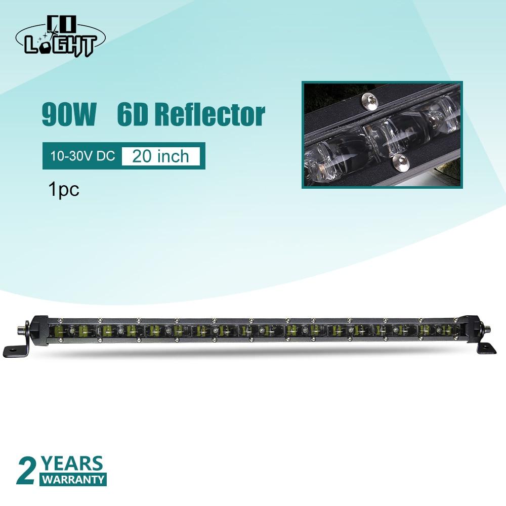 CO LICHT 20 ''Einzelne Led Licht Bar 90 watt Spot Flut Combo Strahl 9000Lm Fahren Licht für Kalina Granta ford Lada Nissan VW Off Road