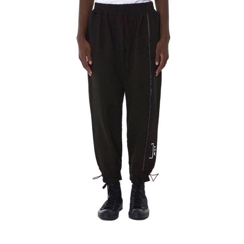2018 meilleure Version ACW A-COLD-WALL Logo imprimé femmes hommes pantalons de survêtement pantalons Hiphop Streetwear hommes coton pantalons décontractés Joggers ACW