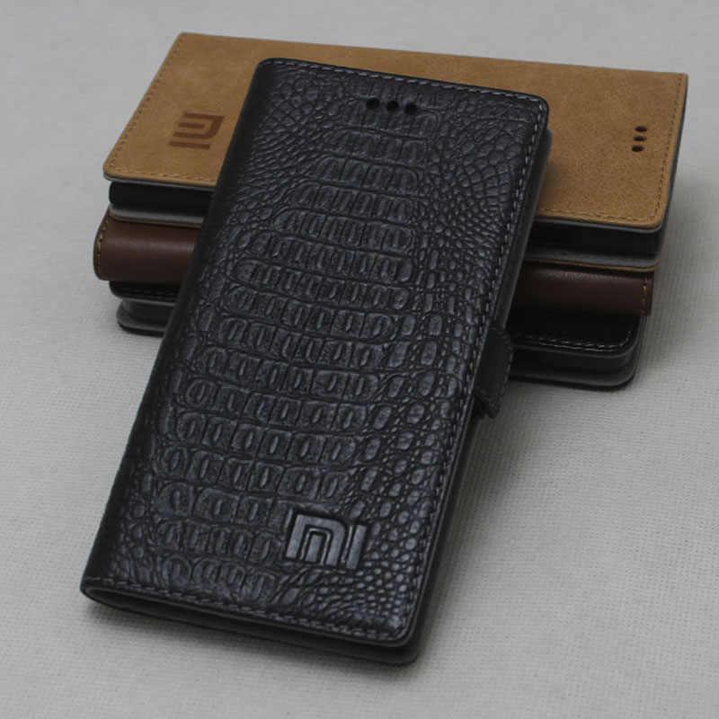 Оригинальный чехол для Xiaomi Redmi Note 5 откидной кожаный защитный задняя крышка