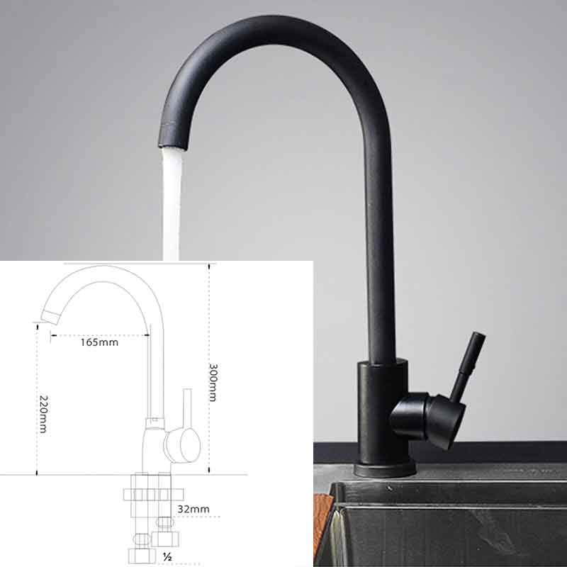 Kitchen Faucet 304 stainless steel faucet kitchen faucet sink tap 360 Degree Rotatior cold and hot faucet