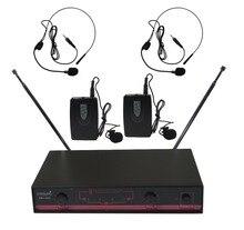 STARAUDIO SMV-2003B 2CH Sem Fio VHF Pro PA DJ Stage KTV Karaoke Dinâmico sistema de Microfone Headset