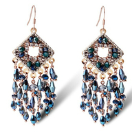 TIANSHE sexy club jewelry big fashion austrian crystal beads geometric luxury exaggerated earrings bohemia for women,020