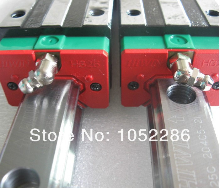 2pcs 100% original Hiwin rail guide HGR20-1200MM + 4pcs HGH20CA linear narrow blocks for cnc hiwin 100