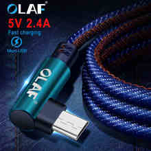 OLAF 2m Micro USB Cable 90 degree Fast Charger Charging Cable For Huawei For Xiaomi USB Cord Micro Data Cable for Android Phone цена