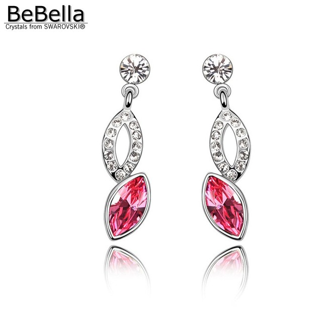 BeBella crystal pendant earrings made with Swarovski Elements for Mother's Day gift
