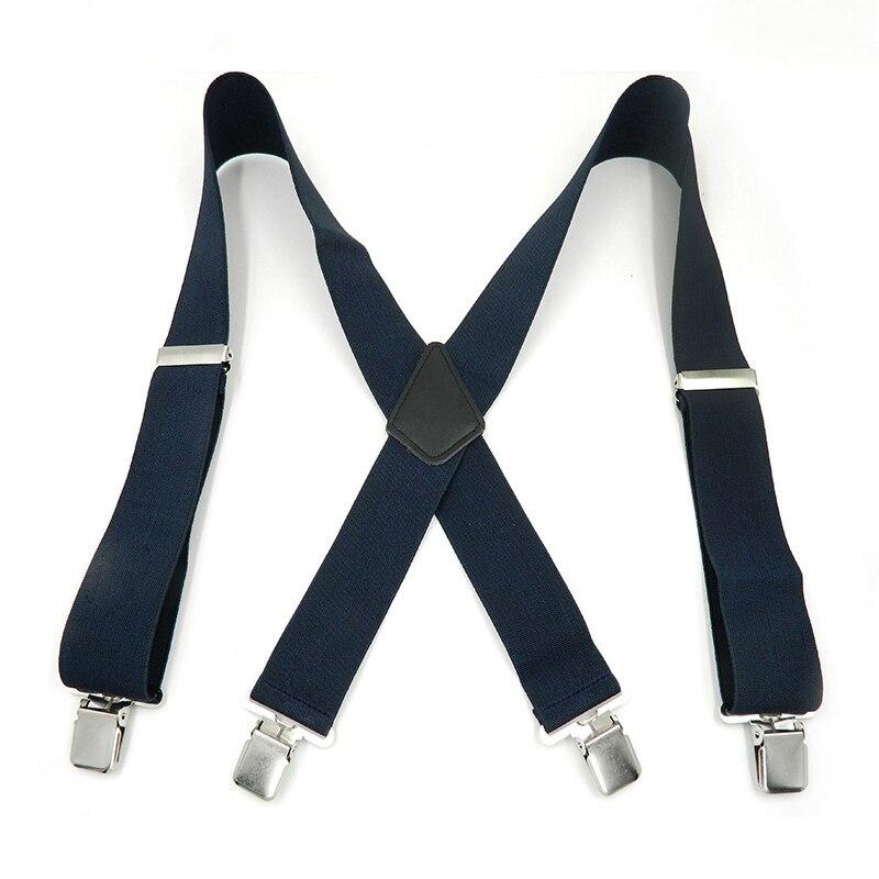 Brillante Cintura Dei Pantaloni Bretelle Per Gli Uomini Pant 4 Clip Di 5 Centimetri Bretelle Con Forte Di Larghezza X-back Pantaloni Casual Uomo Bretelle Cinghia Di 7 Colore Alta Qualità E Poco Costoso