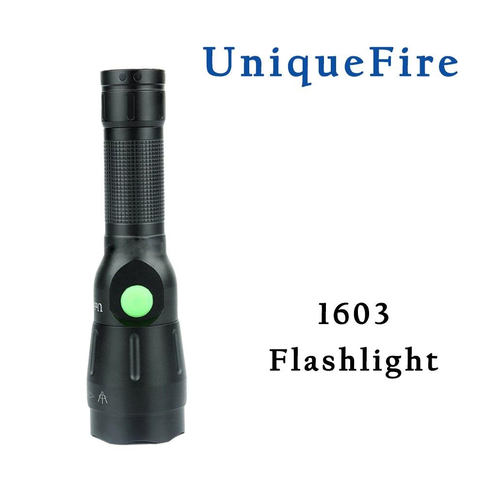 UnqiueFire 1603 XM L2 LED 1200 Lumen 4 Modes USB Rechargeable Flashlight 38 mm Lens USB Charging Cable