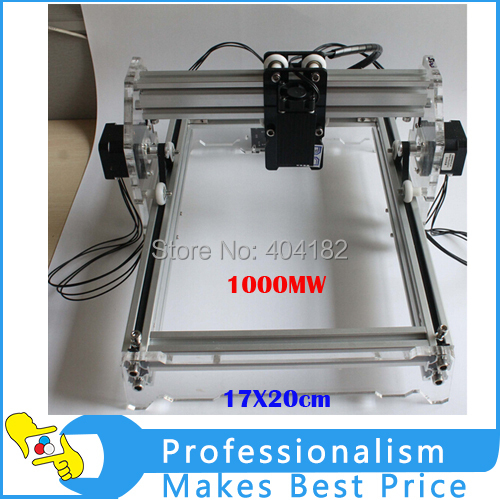 17X20cm 1000MW Large Area Mini DIY Laser Engraving Engraver Machine, DIY Marking Machine,DIY laser Printer machine,Free shipping free shipping by dhl15 set 500mw laser power diy mini engraving marking laser engraving machine tool for case cover rubber stamp