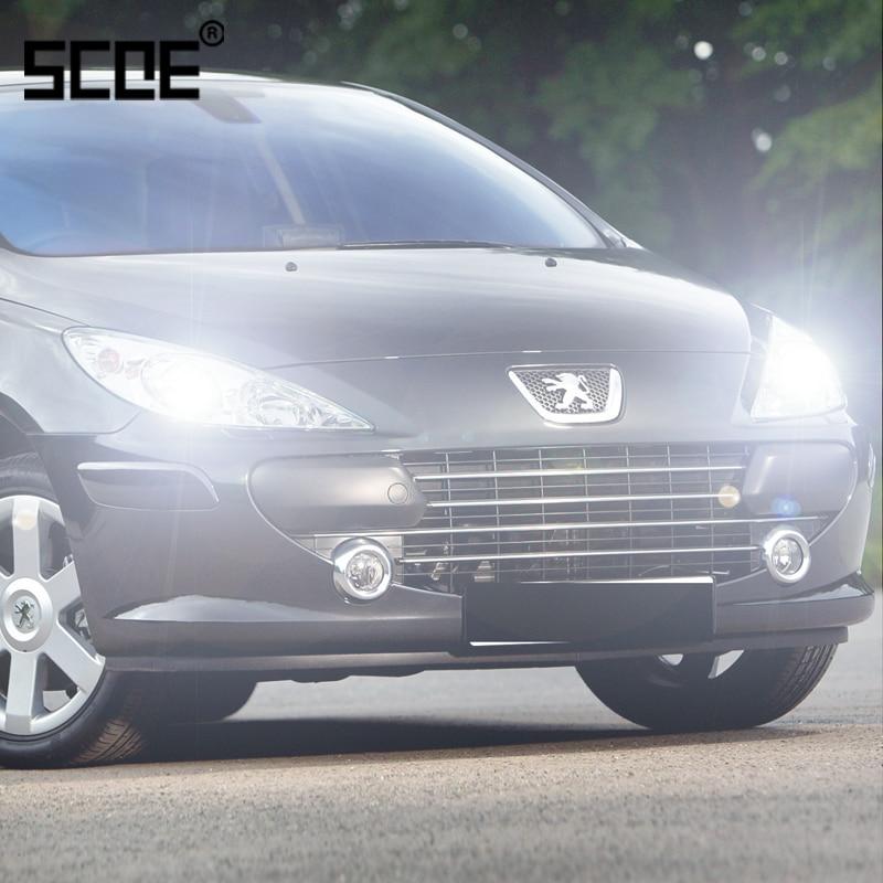 For Peugeot 307 407/407SW SCOE 2PCS Auto Low Beam Super Halogen Bulb Headlight Car Styling Warm White