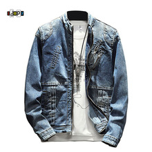 Idopy Men Fashion Motorcycle Biker Slim Fit Jean Jackets Mul