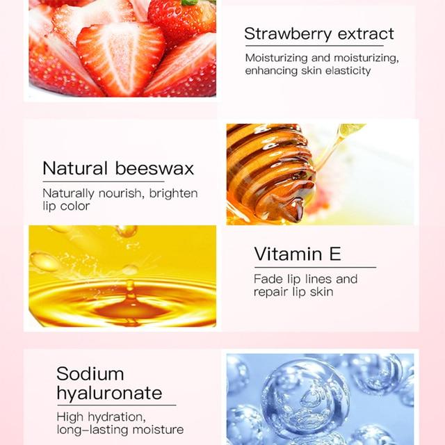 Daralis 15g Strawberry Lip Mask Lip Sleeping Mask Pink Lips Cream Exfoliator Lip Plumper Moisturizing Hydrating For Lip Care 5
