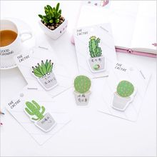30 Pages/pack Green cactus potted plants Sticky Notes Notebook Planner Accessories Tool Sticky Posted Message Notes Scratch pad