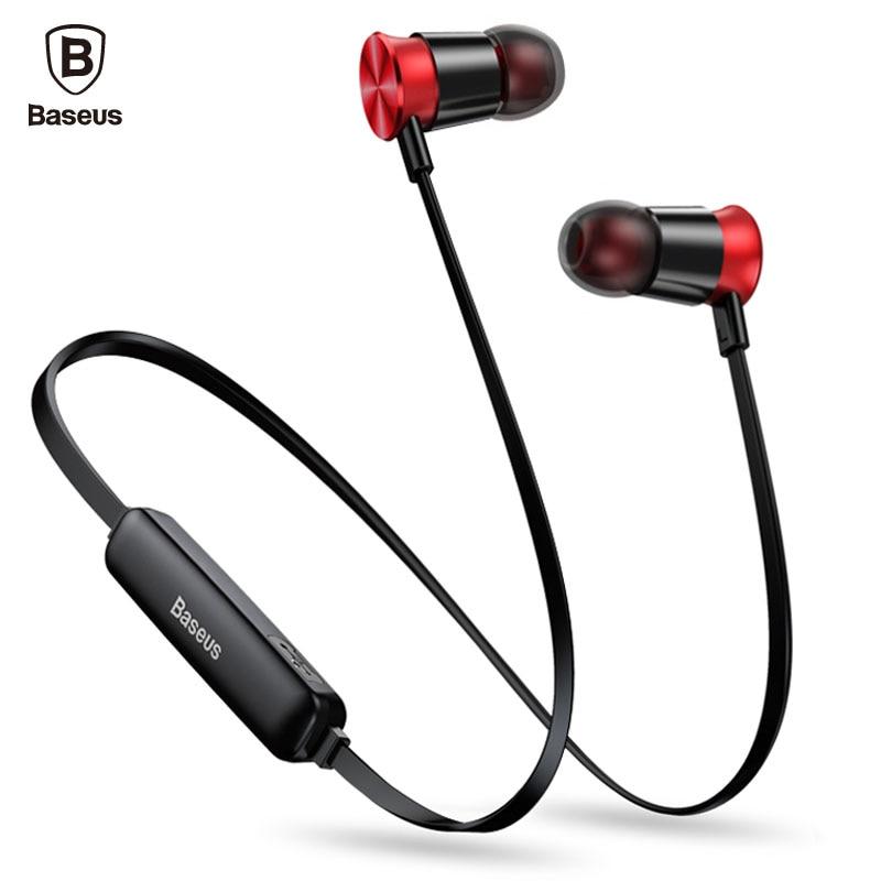 BASEUS S07 Bluetooth наушники для телефона спортивные Беспроводной наушники с микрофоном стерео Auriculares гарнитура Bluetooth наушники наушник